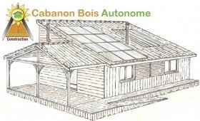 Cabanon bois autonome