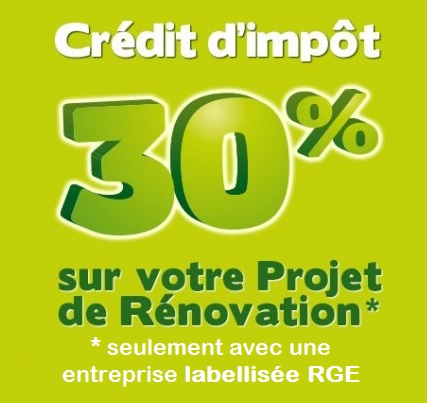 Cr dit d imp t 2015 et label rge ecotech construction - Credit d impot transition energetique ...