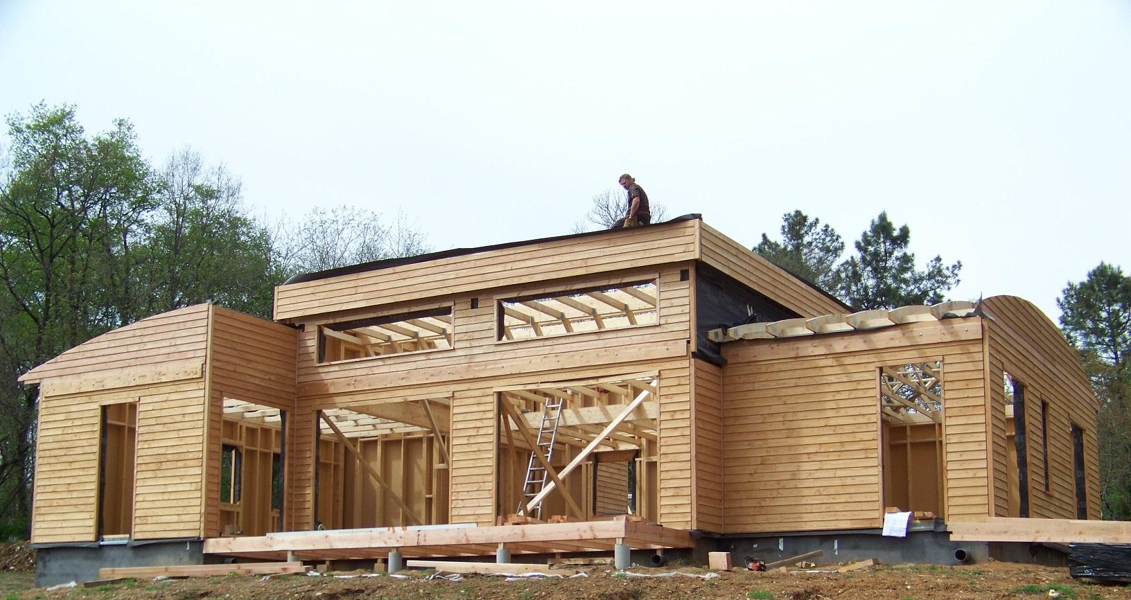 Constructeur maison bois wood maison moderne for Architecture maison bois
