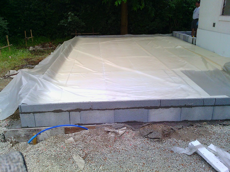 Extension de maison ecotech construction - Isolation dalle maison ...