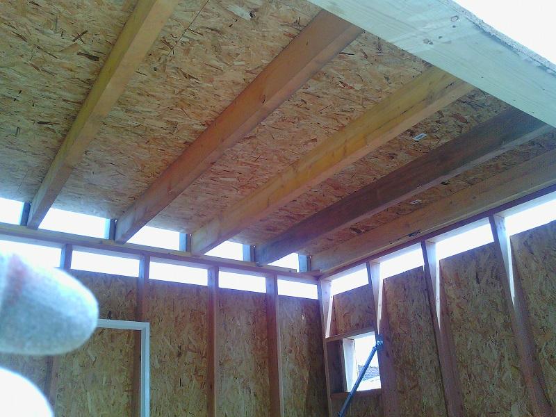 D couvrez notre cabanon d exposition ecotech construction for Cabanon en bois toit plat