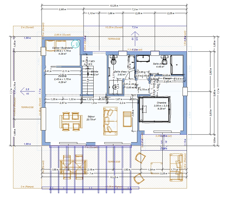 Plan maison rt 2020 for Plan maison positive
